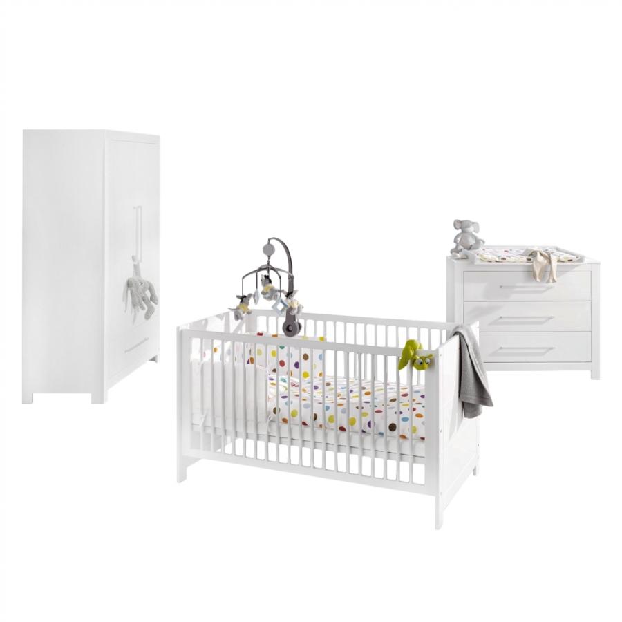 chambre b b pin massif blanc puro. Black Bedroom Furniture Sets. Home Design Ideas