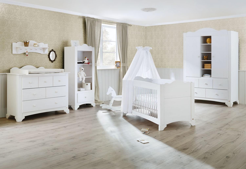 Chambre Bébé Bois massif blanc Pino - LesTendances.fr