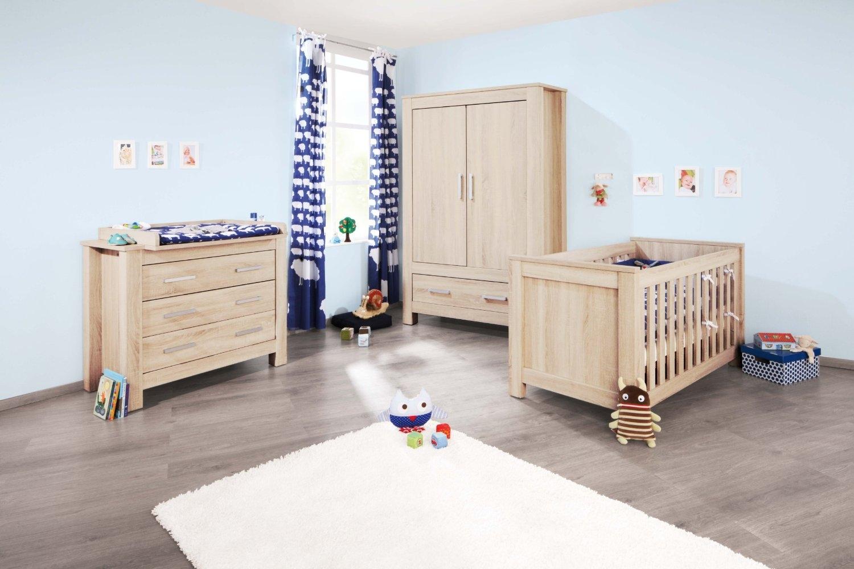 Chambre bébé complète chêne clair carus   lestendances.fr