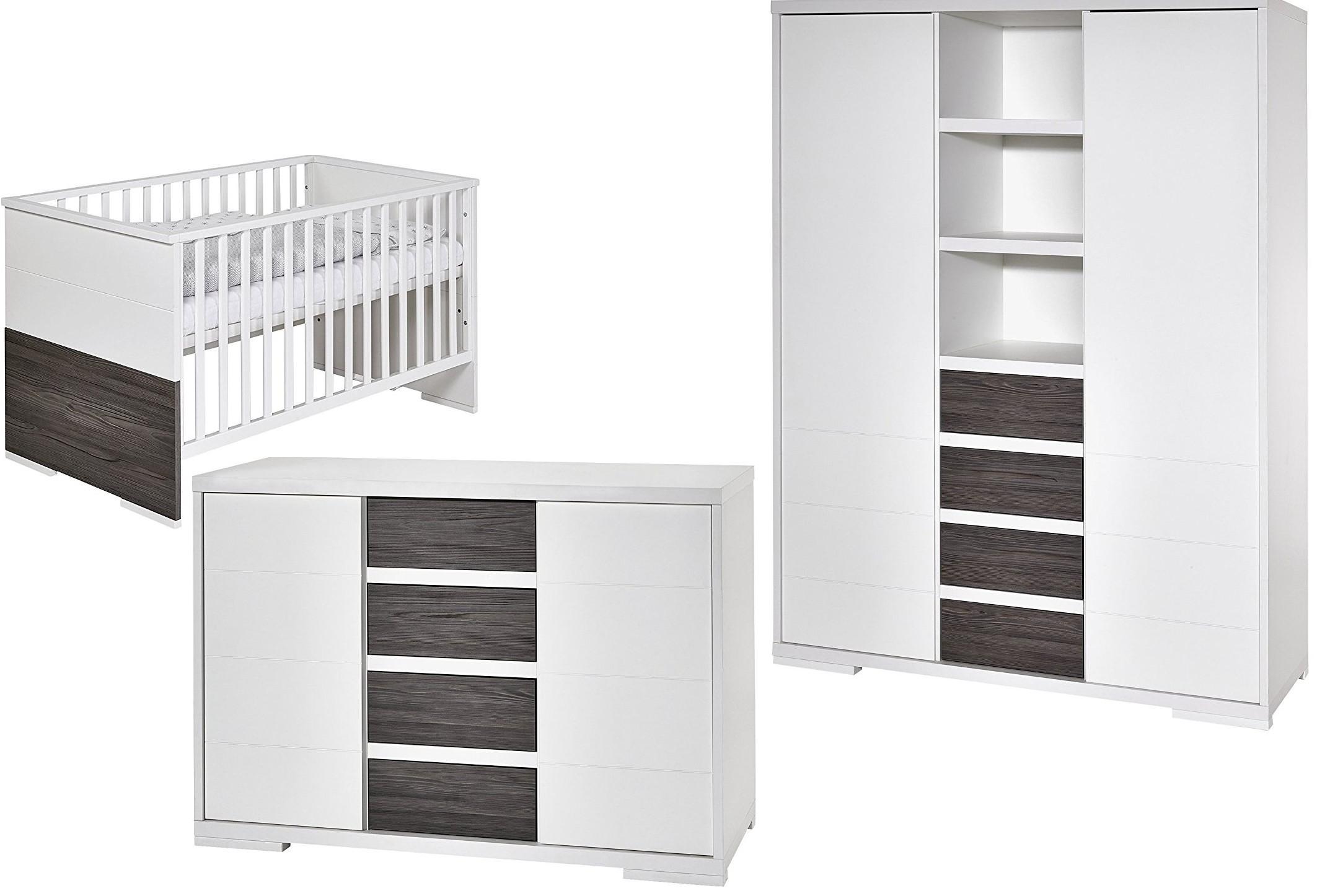 Chambre compl te bois frais gris et blanc maxx fleetwood - Chambre gris et blanc ...