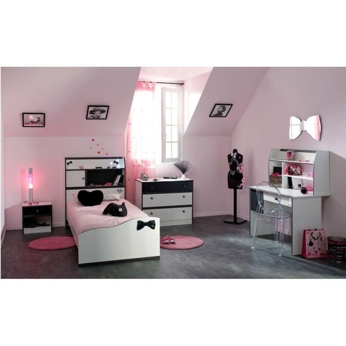chambre compl te enfant blanc et noir lovell. Black Bedroom Furniture Sets. Home Design Ideas