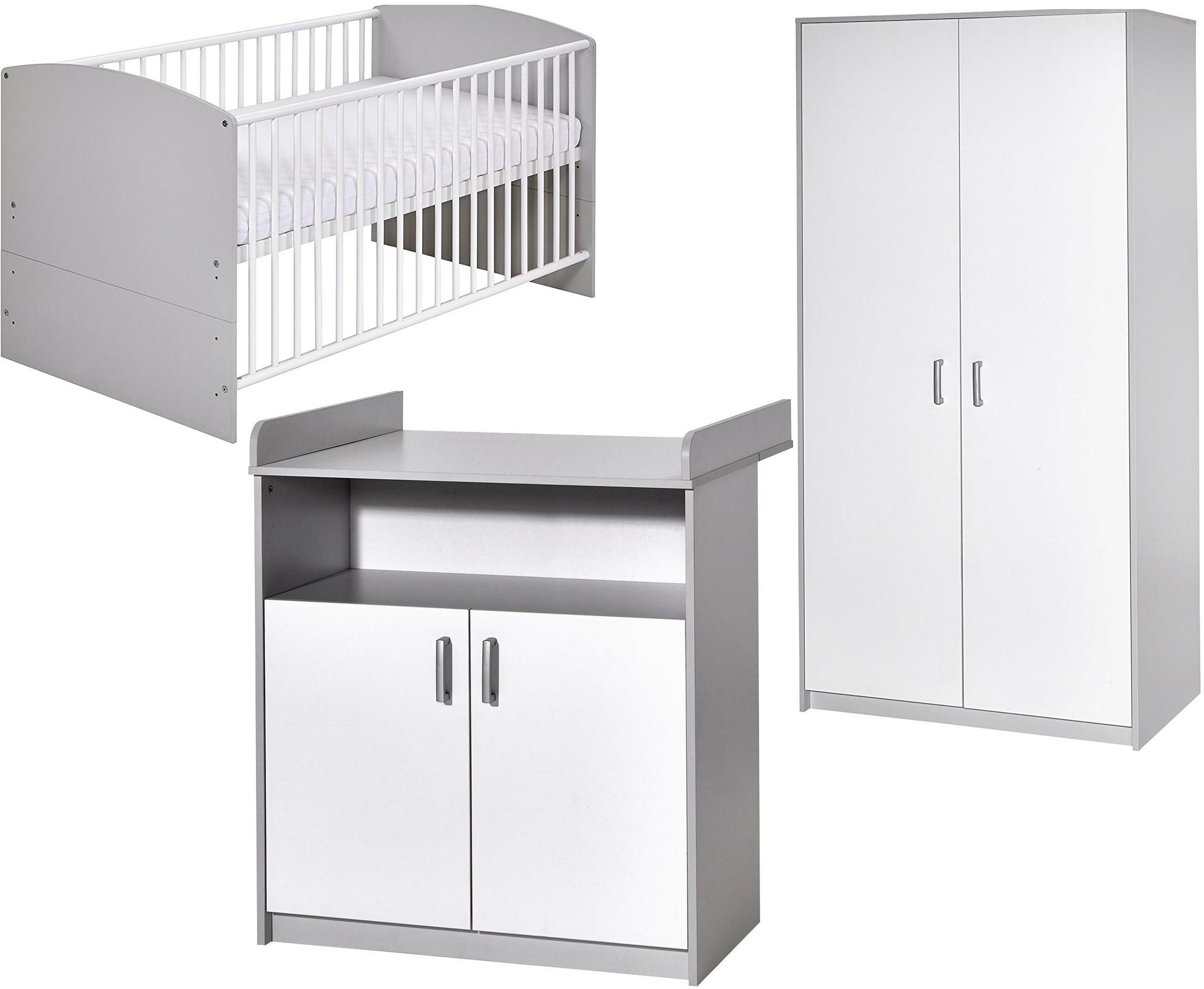 Chambre compl te gris et blanc classic grey 70 - Chambre gris et blanc ...