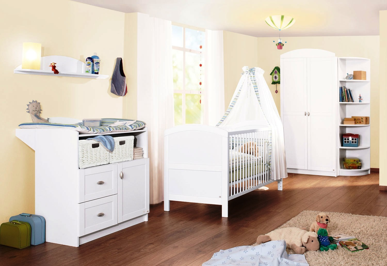 chambre compl te pin massif blanc laura. Black Bedroom Furniture Sets. Home Design Ideas