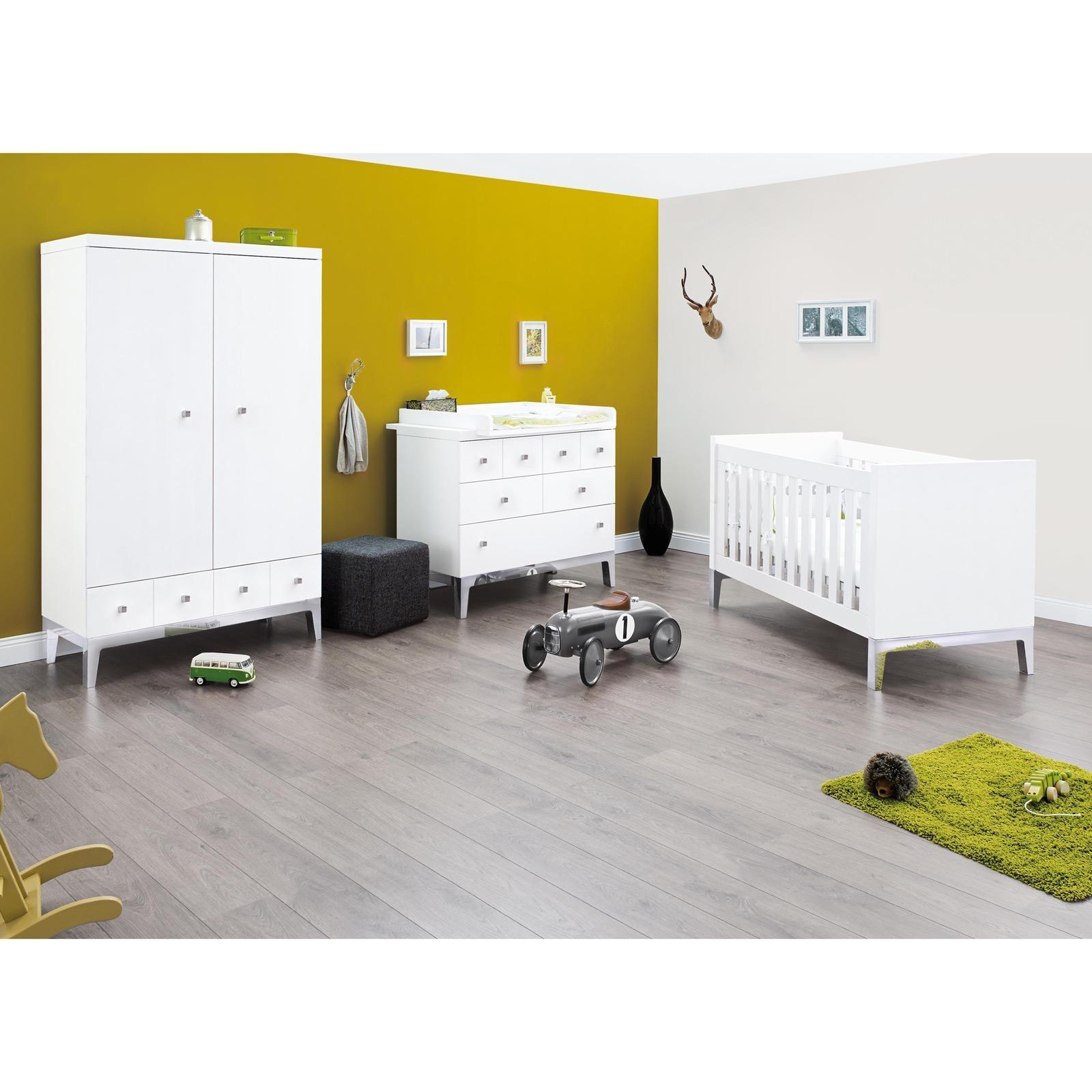 Chambre de laqu blanc vision for Achat chambre enfant