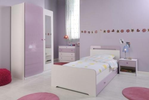 chambre enfant blanc et parme parmeline. Black Bedroom Furniture Sets. Home Design Ideas