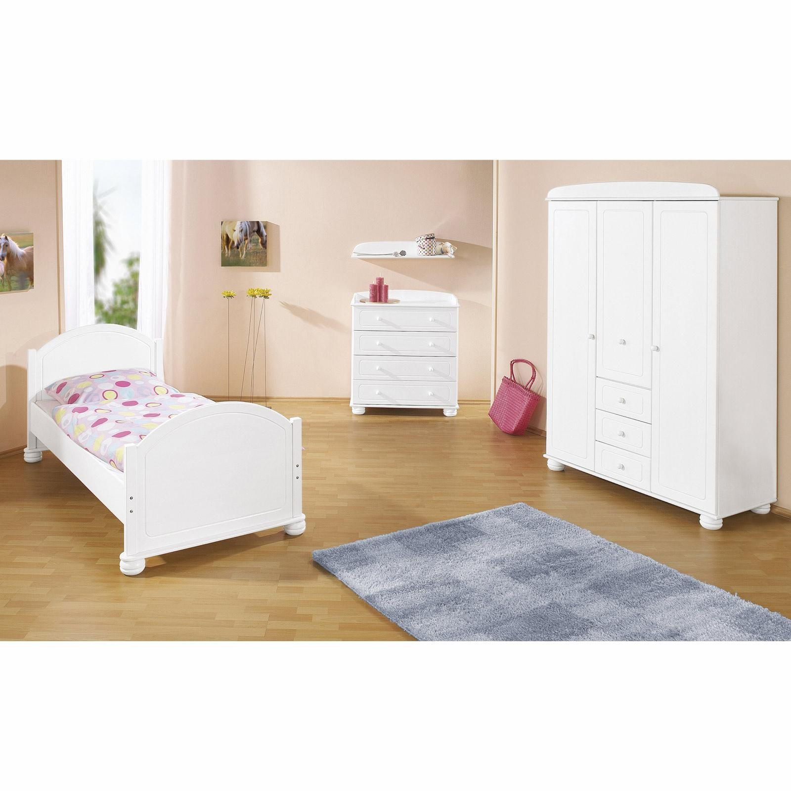 chambre enfant bois massif lasur blanc clara. Black Bedroom Furniture Sets. Home Design Ideas