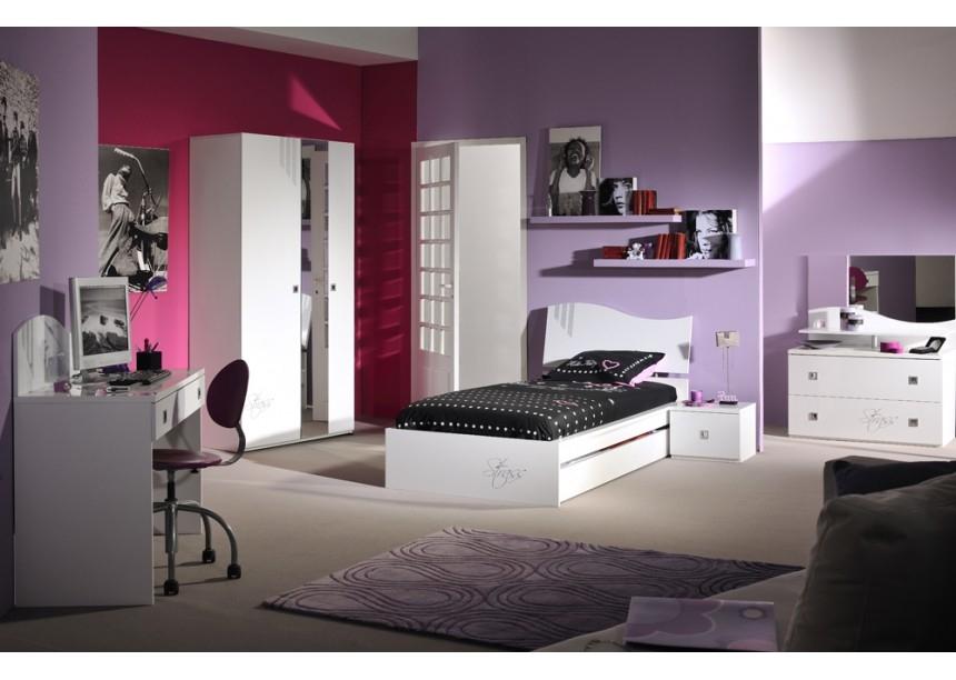 Meuble chambre blanc laqu top e commode adulte design for Meuble blanc chambre
