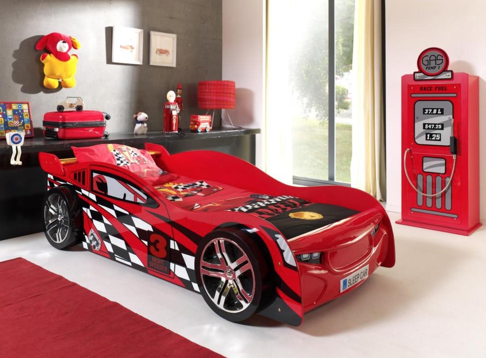 chambre gar on voiture rouge spider lumineux mod le sans led. Black Bedroom Furniture Sets. Home Design Ideas