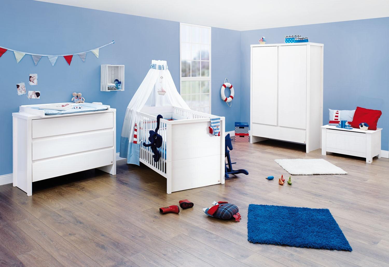 chambre large pin massif blanc aura. Black Bedroom Furniture Sets. Home Design Ideas