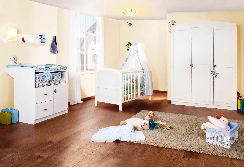 chambre large pin massif blanc laura. Black Bedroom Furniture Sets. Home Design Ideas