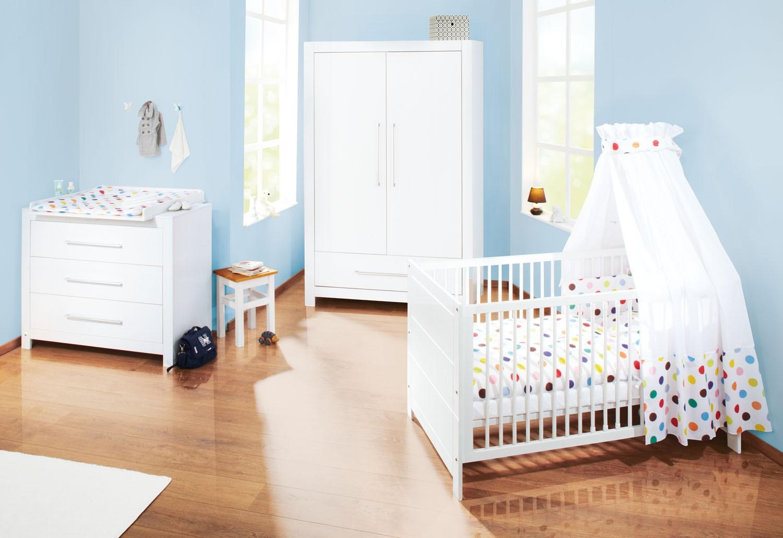 chambre large pin massif blanc puro. Black Bedroom Furniture Sets. Home Design Ideas