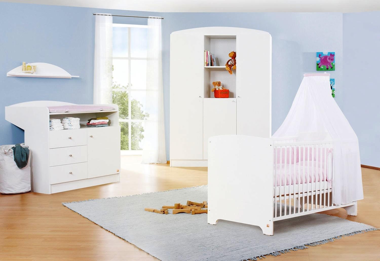 chambre pin large massif blanc jil. Black Bedroom Furniture Sets. Home Design Ideas