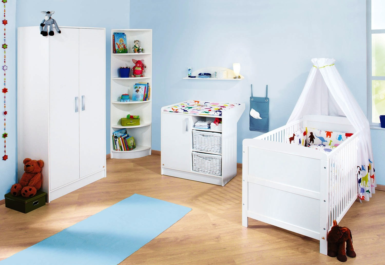 chambre pin massif blanc viktoria. Black Bedroom Furniture Sets. Home Design Ideas