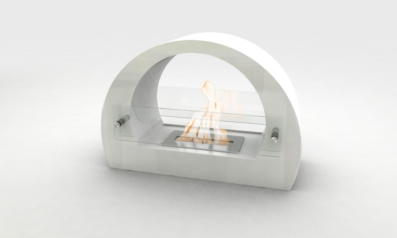 chemin e bio thanol de sol arc blanche. Black Bedroom Furniture Sets. Home Design Ideas