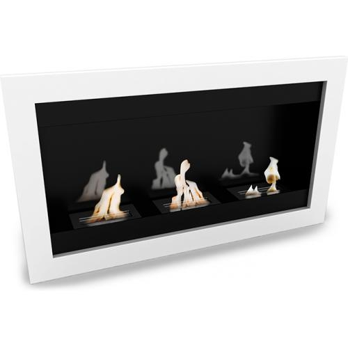 chemin e bio thanol murale blanche contemporaine. Black Bedroom Furniture Sets. Home Design Ideas