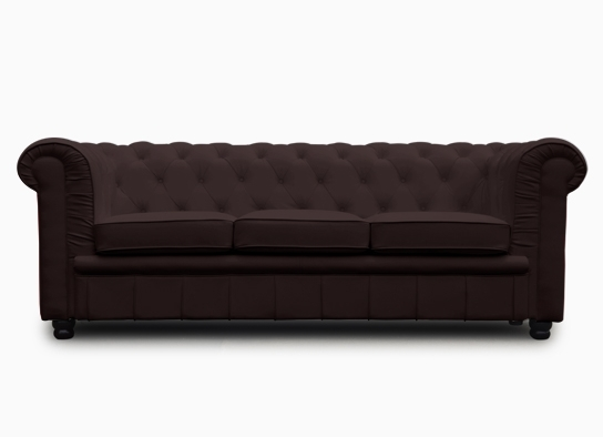 chesterfield convertible marron 3 places. Black Bedroom Furniture Sets. Home Design Ideas