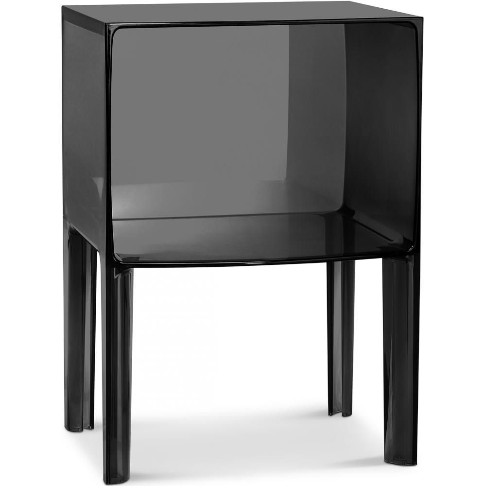 chevet design plexiglass noir. Black Bedroom Furniture Sets. Home Design Ideas