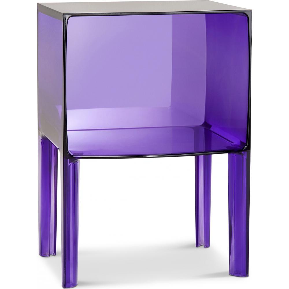 chevet design plexiglass violet. Black Bedroom Furniture Sets. Home Design Ideas