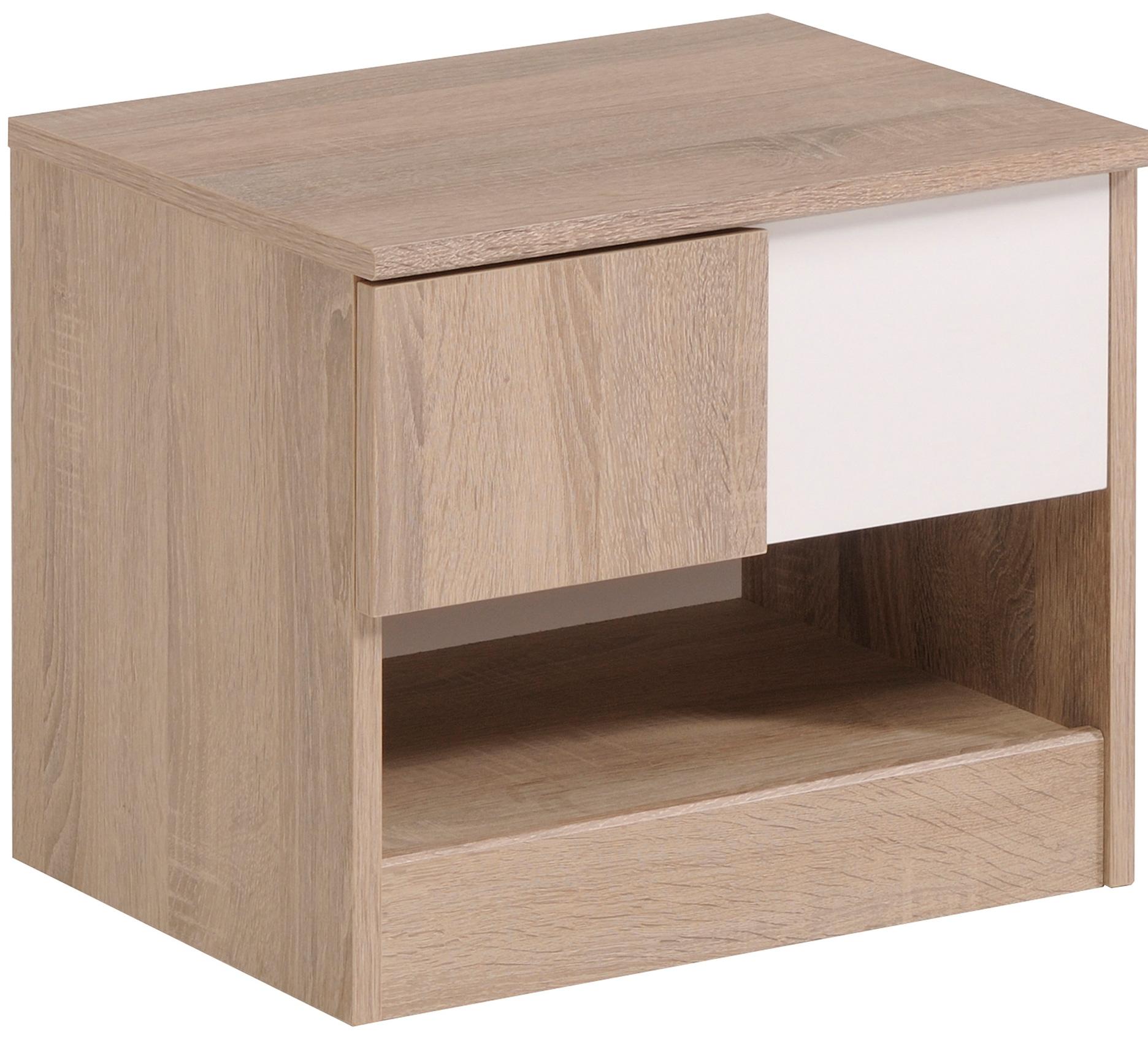 chevet enfant ch ne et blanc battle. Black Bedroom Furniture Sets. Home Design Ideas