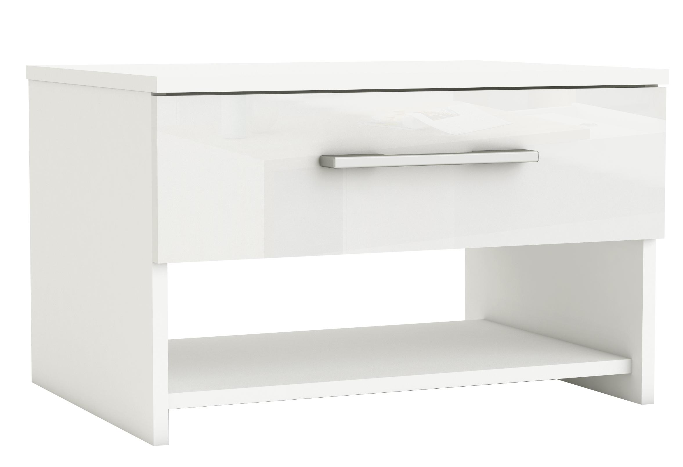 chevet blanc brillant las vegas. Black Bedroom Furniture Sets. Home Design Ideas