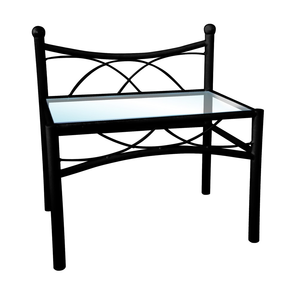 chevet metal noir sweet. Black Bedroom Furniture Sets. Home Design Ideas
