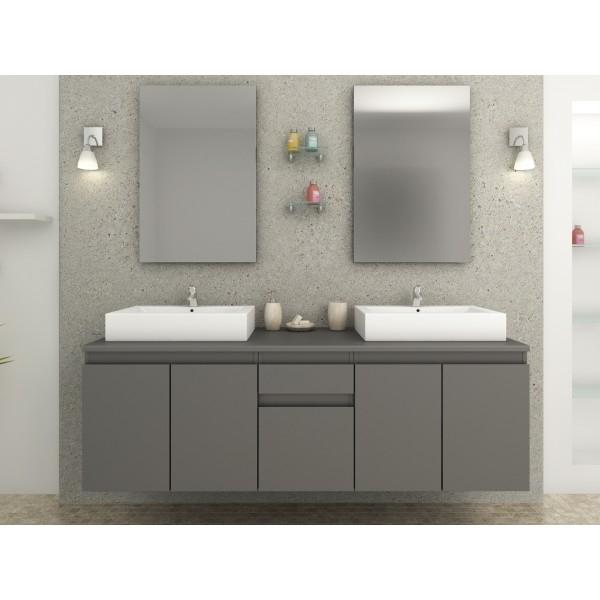 meuble de salle de bain gris mat olivera. Black Bedroom Furniture Sets. Home Design Ideas