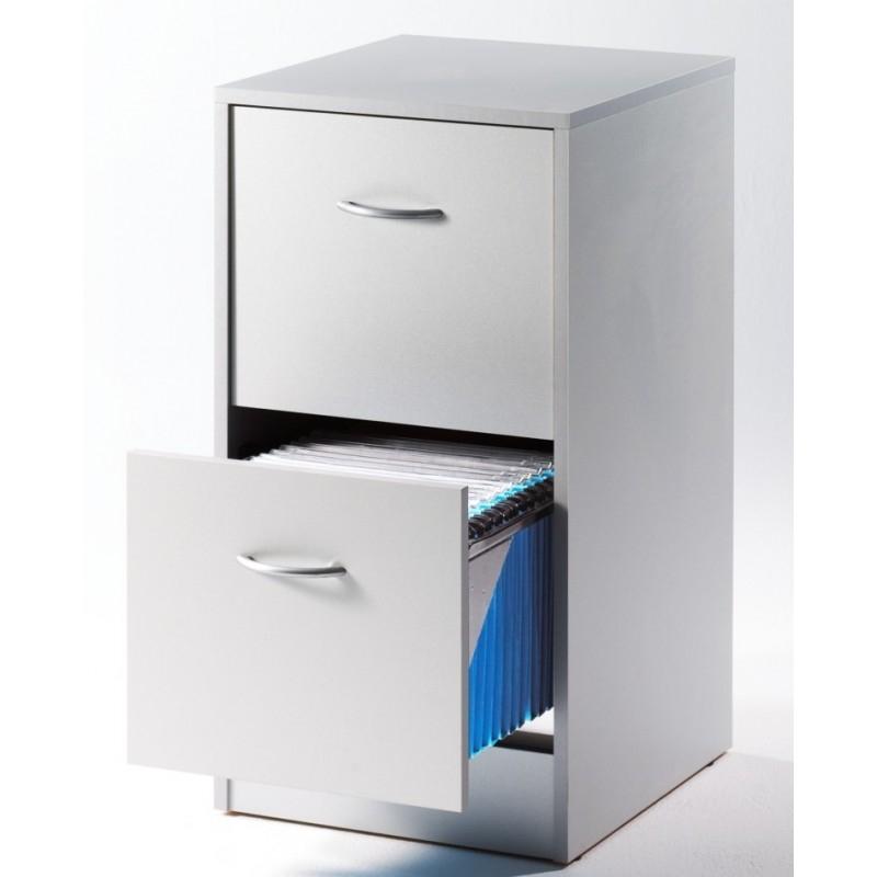 classeur 2 tiroirs pour dossiers suspendus gris matha. Black Bedroom Furniture Sets. Home Design Ideas