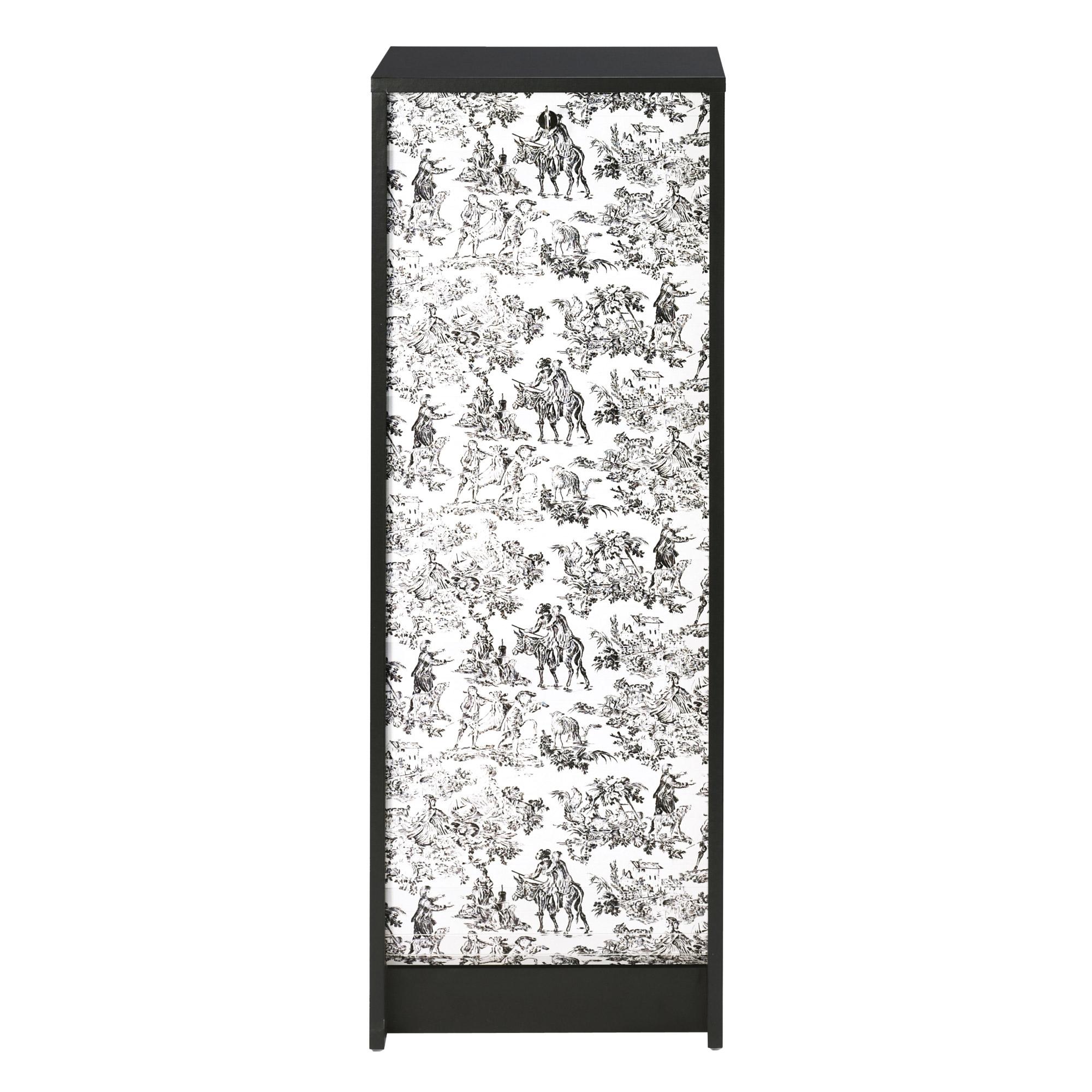 classeur rideau noir toile de jouy. Black Bedroom Furniture Sets. Home Design Ideas