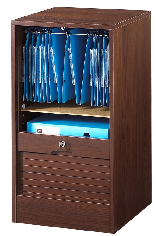 Classeur de bureau rideau weng officia for Meuble bureau wenge