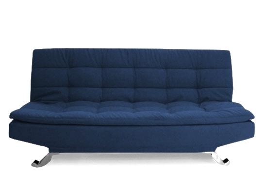 clic clac microfibre bleu moderne. Black Bedroom Furniture Sets. Home Design Ideas