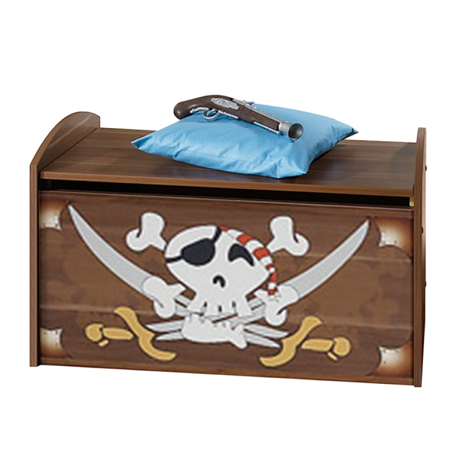 coffre jouets pirate. Black Bedroom Furniture Sets. Home Design Ideas