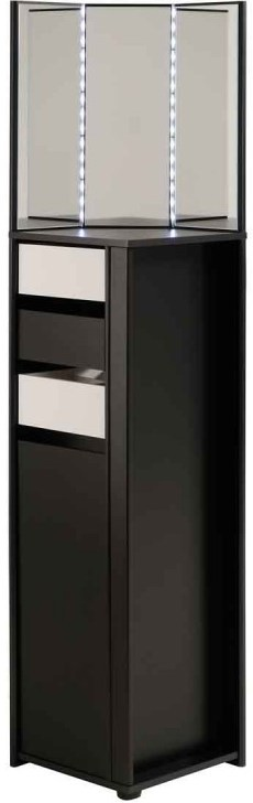 coiffeuse d 39 angle noire et blanche flora. Black Bedroom Furniture Sets. Home Design Ideas