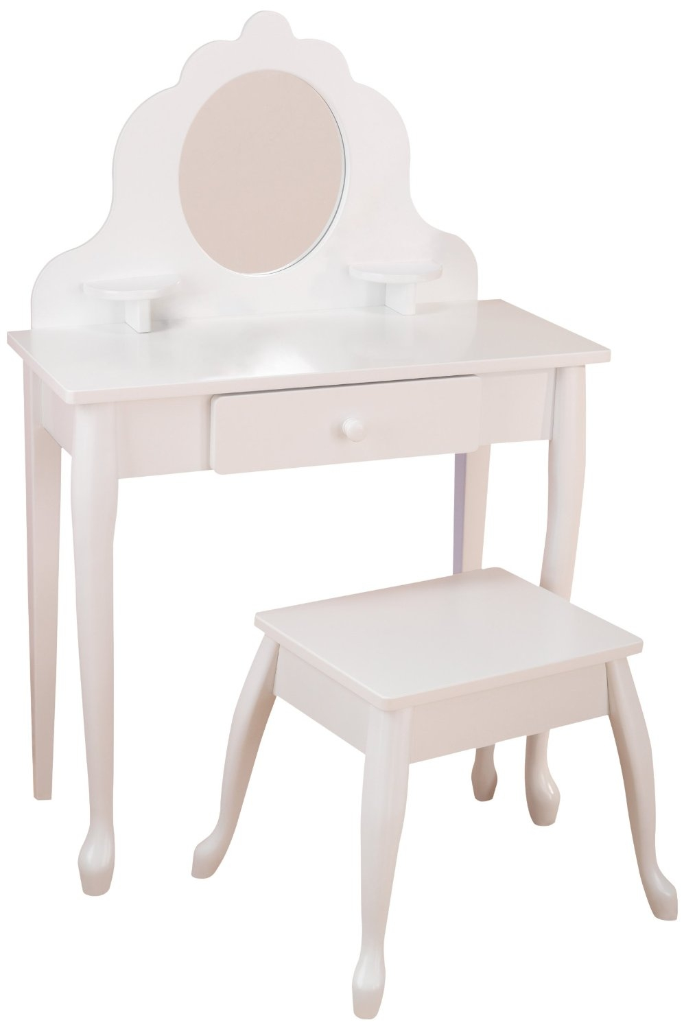 coiffeuse et tabouret blanc kidkraft 13009. Black Bedroom Furniture Sets. Home Design Ideas