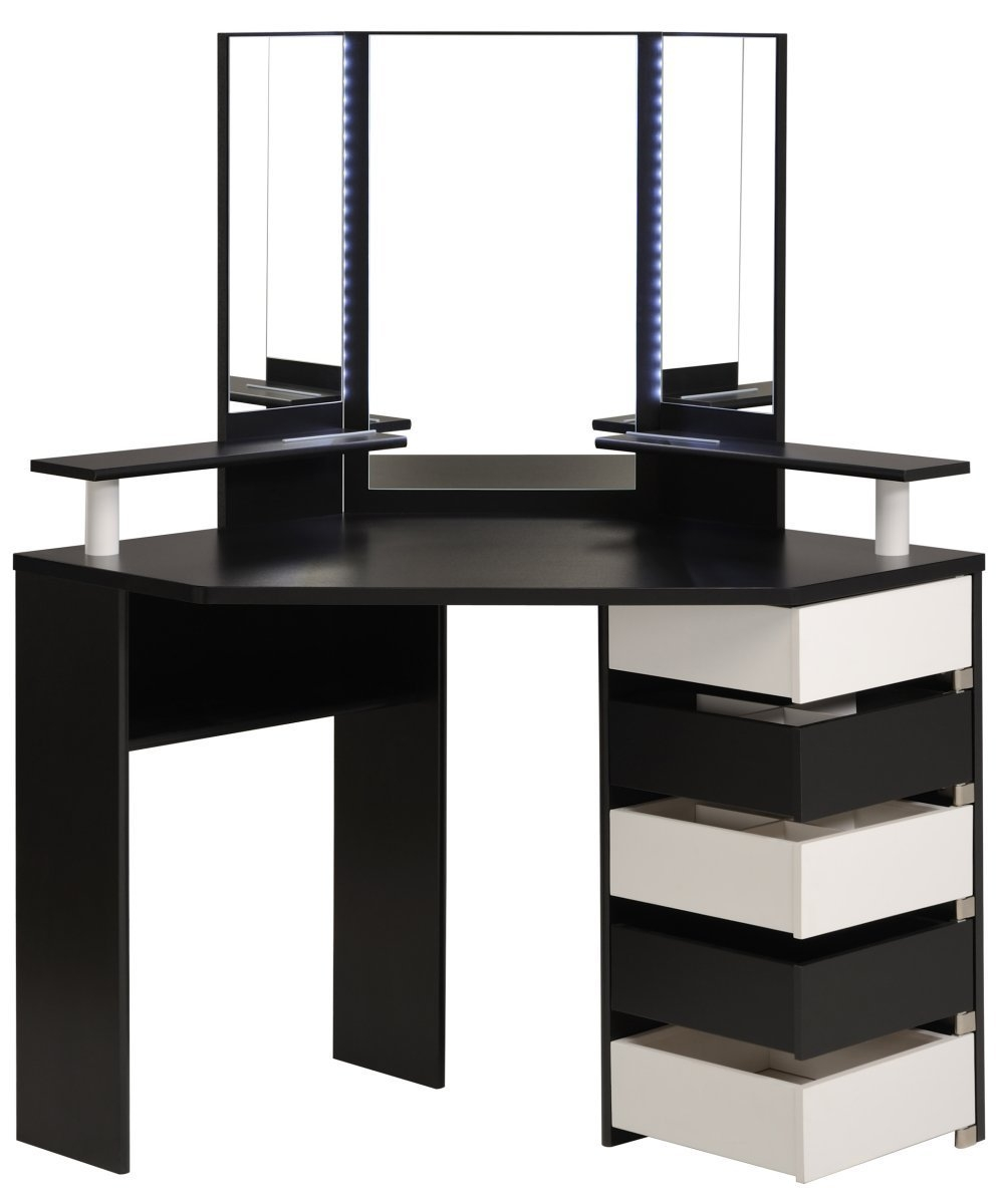 free coiffeuse noire et blanche diamo with coiffeuse blanche moderne. Black Bedroom Furniture Sets. Home Design Ideas