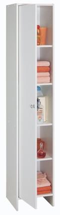 colonne blanche de salle de bain 1 porte karli. Black Bedroom Furniture Sets. Home Design Ideas