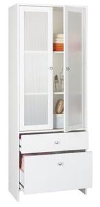 colonne blanche de salle de bain 2 portes karli. Black Bedroom Furniture Sets. Home Design Ideas