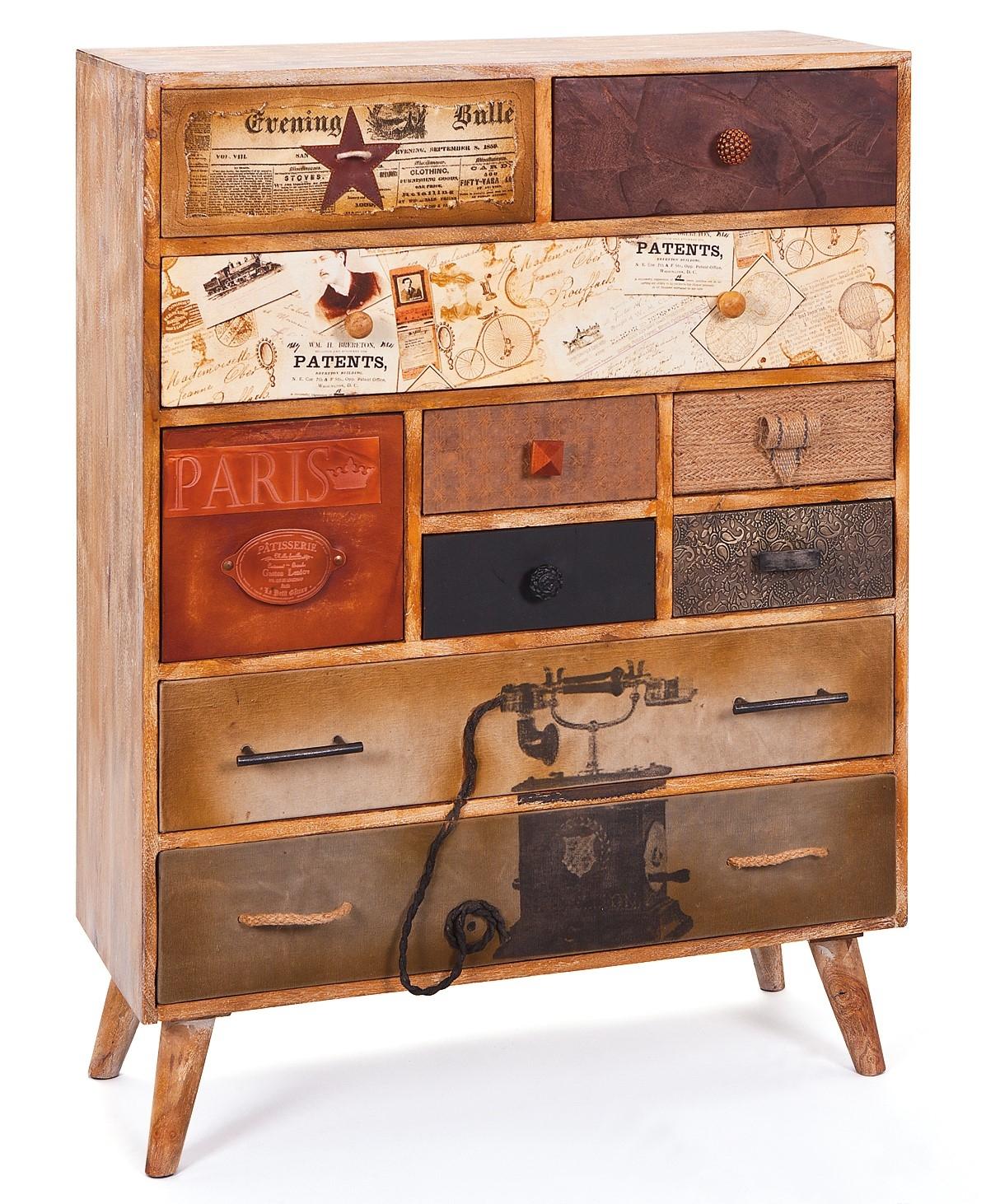 commode 10 tiroirs bois massif de manguier louis. Black Bedroom Furniture Sets. Home Design Ideas