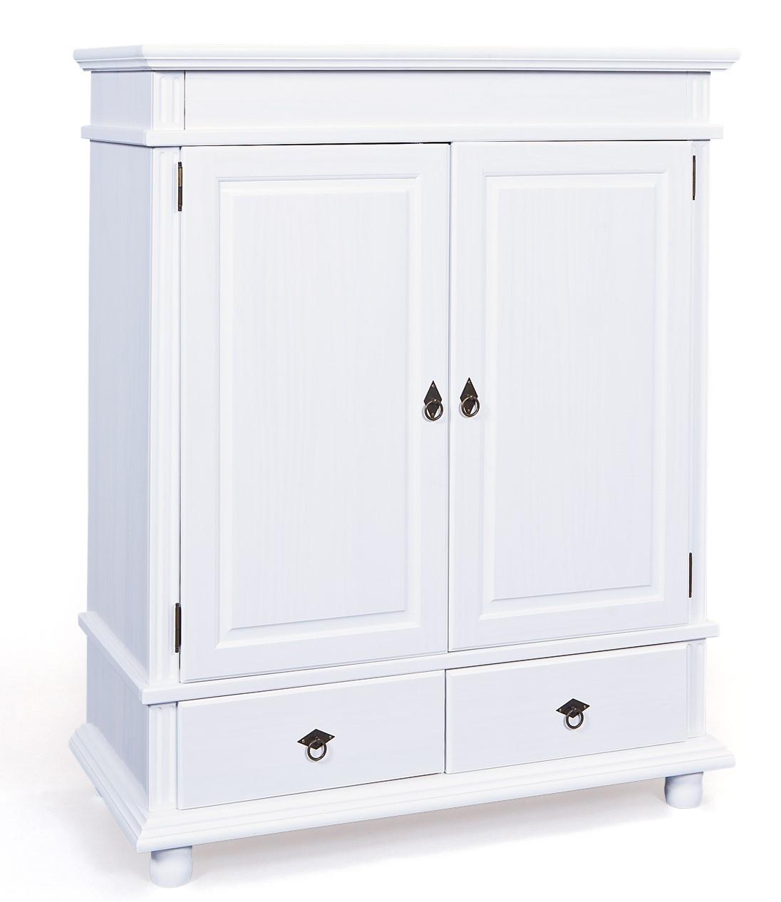commode 2 portes 2 tiroirs pin massif blanche micha. Black Bedroom Furniture Sets. Home Design Ideas