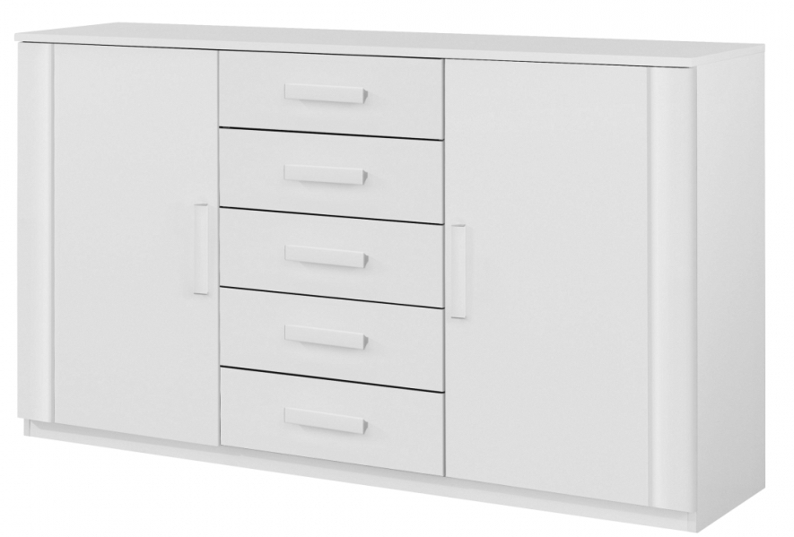 commode 2 portes blanc kurik. Black Bedroom Furniture Sets. Home Design Ideas