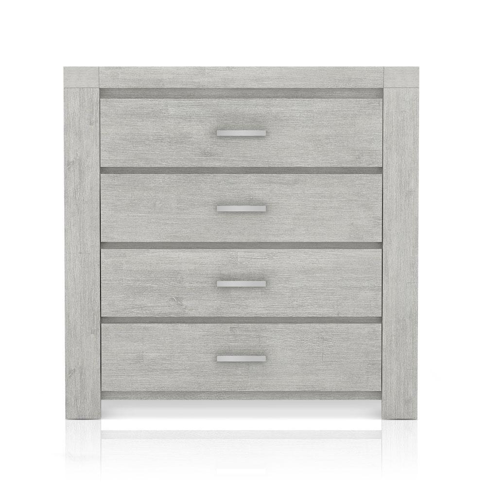 commode 4 tiroirs bois gris akia. Black Bedroom Furniture Sets. Home Design Ideas