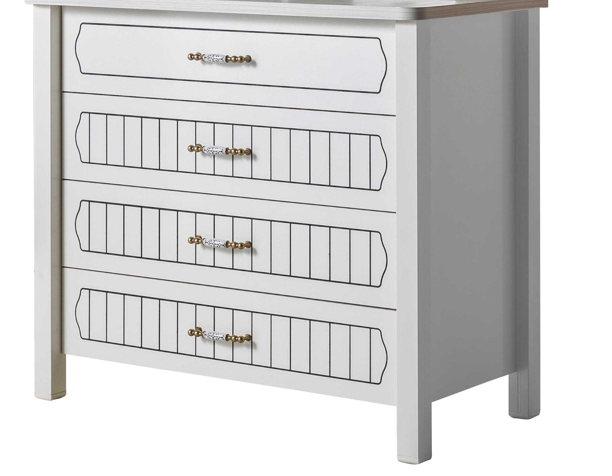 commode 4 tiroirs blanc tiamo. Black Bedroom Furniture Sets. Home Design Ideas