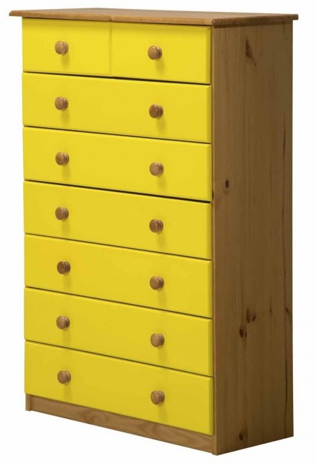 commode 6 2 pin massif miel et jaune aladin. Black Bedroom Furniture Sets. Home Design Ideas