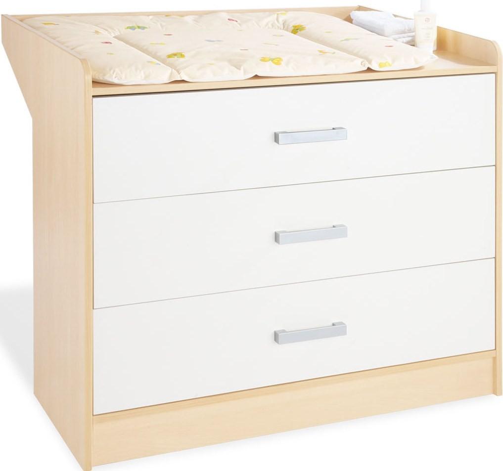 commode b b avec plan langer h tre clair et blanc florian. Black Bedroom Furniture Sets. Home Design Ideas