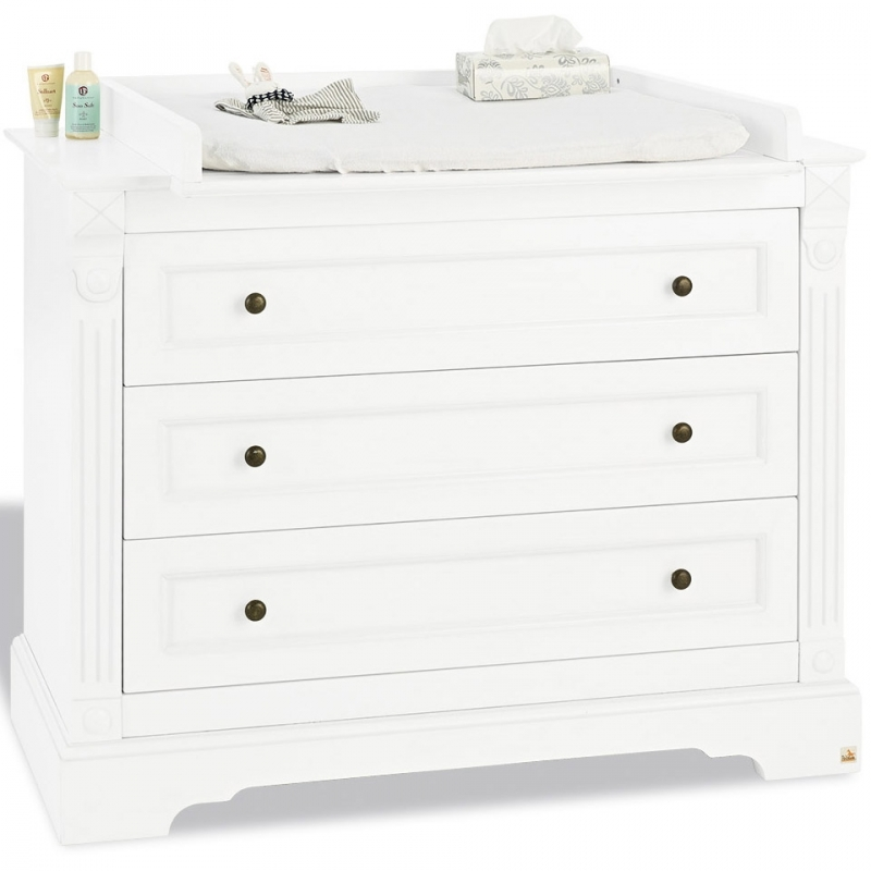 commode b b avec plan langer large bois laqu mat blanc emilia. Black Bedroom Furniture Sets. Home Design Ideas
