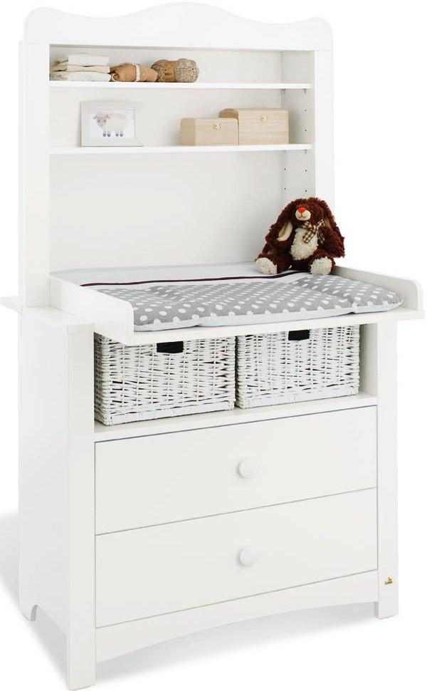 commode b b avec plan langer pin massif blanc. Black Bedroom Furniture Sets. Home Design Ideas