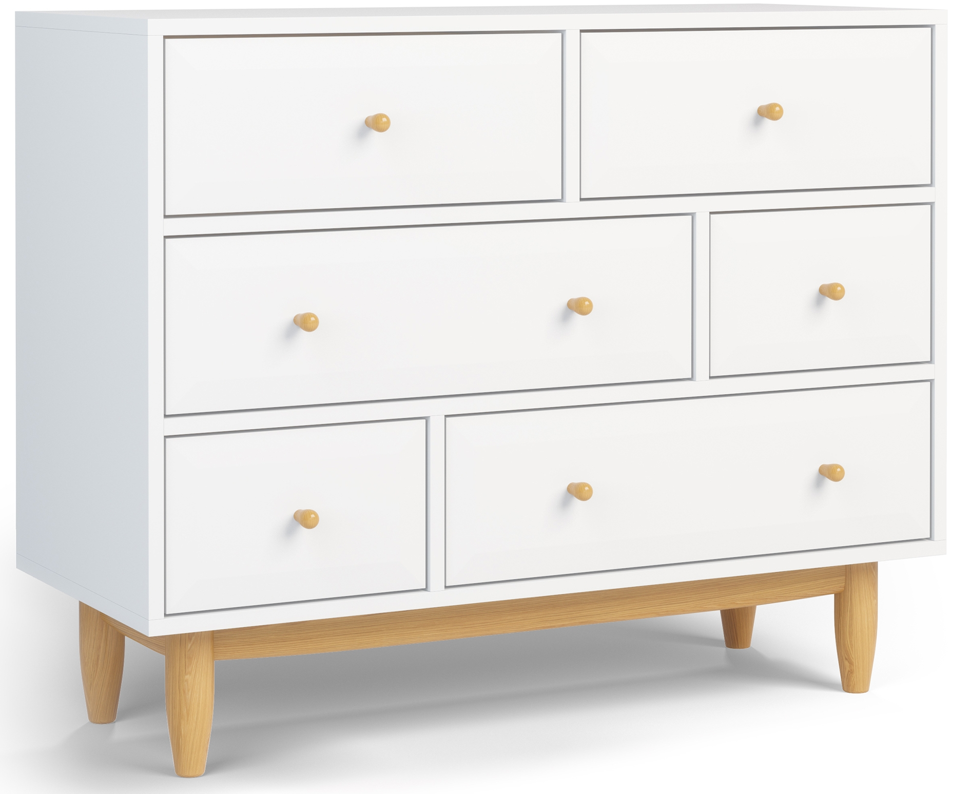 commode malm 6 tiroirs blanc acheter malm ikea malm. Black Bedroom Furniture Sets. Home Design Ideas
