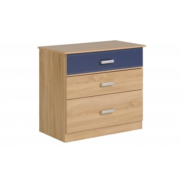 commode enfant bois clair et bleu campus. Black Bedroom Furniture Sets. Home Design Ideas