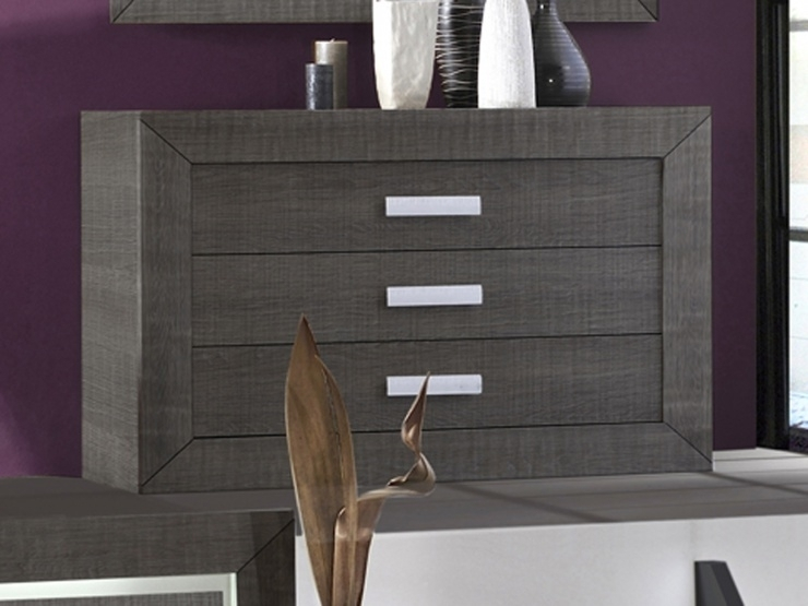 Commode grise anthracite lima - Commode gris anthracite ...