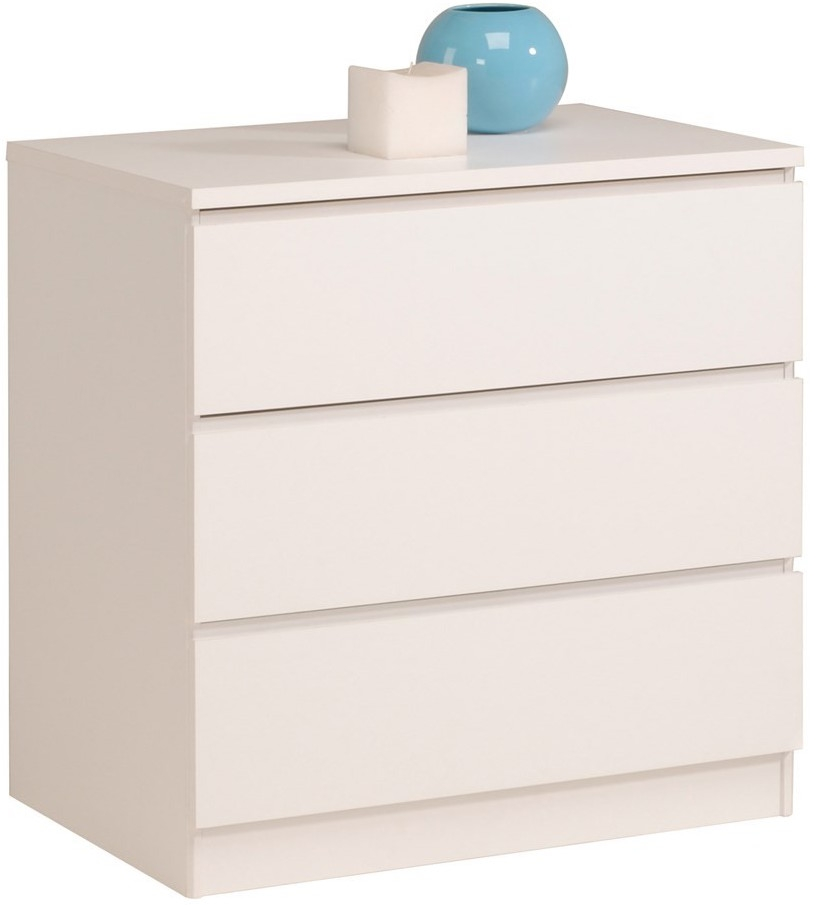 Les tendances commode 3 tiroirs blanc nuvola - Commode tiroir blanc ...