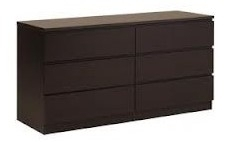 les tendances commode marron 6 tiroirs nuvola. Black Bedroom Furniture Sets. Home Design Ideas